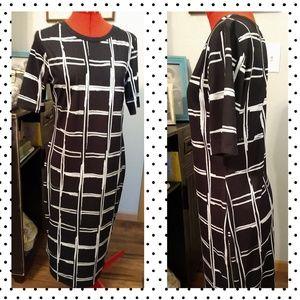 Top Shop straight midi dress 8-10